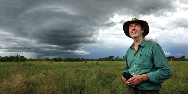 Simon standing in the Luangwa Valley in Zambia Photograph David Bebber