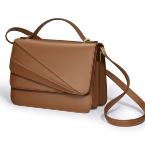 Butterfly Large Double Flap Shoulder Bag Clay