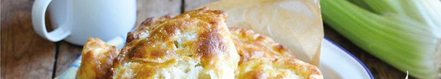Stilton Cheese and Fenland Celery Pasties